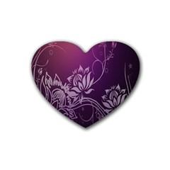 Purple Lotus Heart Coaster (4 pack)