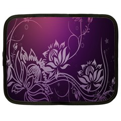 Purple Lotus Netbook Case (XXL)