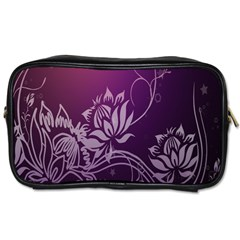 Purple Lotus Toiletries Bags
