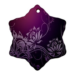 Purple Lotus Snowflake Ornament (Two Sides)