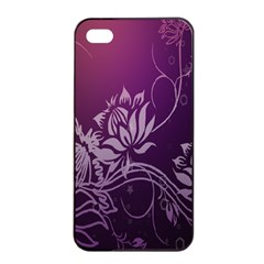 Purple Lotus Apple Iphone 4/4s Seamless Case (black)
