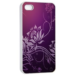 Purple Lotus Apple Iphone 4/4s Seamless Case (white)