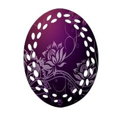 Purple Lotus Ornament (oval Filigree)