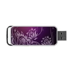 Purple Lotus Portable Usb Flash (two Sides)