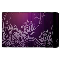 Purple Lotus Apple Ipad 3/4 Flip Case