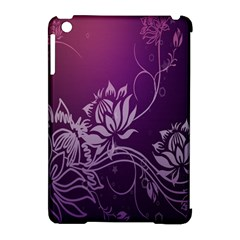 Purple Lotus Apple Ipad Mini Hardshell Case (compatible With Smart Cover)