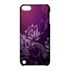 Purple Lotus Apple iPod Touch 5 Hardshell Case with Stand