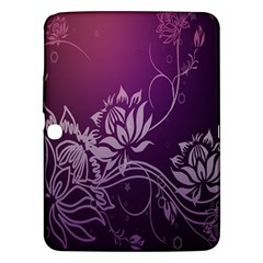 Purple Lotus Samsung Galaxy Tab 3 (10.1 ) P5200 Hardshell Case