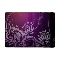 Purple Lotus Ipad Mini 2 Flip Cases