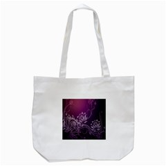 Purple Lotus Tote Bag (white)