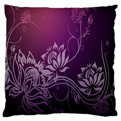 Purple Lotus Large Flano Cushion Case (Two Sides)