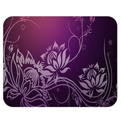 Purple Lotus Double Sided Flano Blanket (Medium)