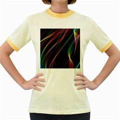 Rainbow Ribbons Women s Fitted Ringer T Shirts