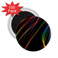 Rainbow Ribbons 2.25  Magnets (100 pack)