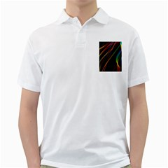 Rainbow Ribbons Golf Shirts