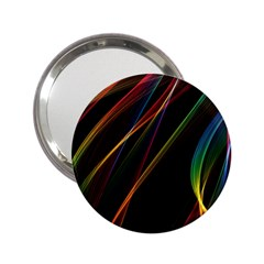 Rainbow Ribbons 2 25  Handbag Mirrors