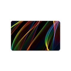 Rainbow Ribbons Magnet (Name Card)
