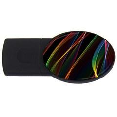 Rainbow Ribbons USB Flash Drive Oval (2 GB)