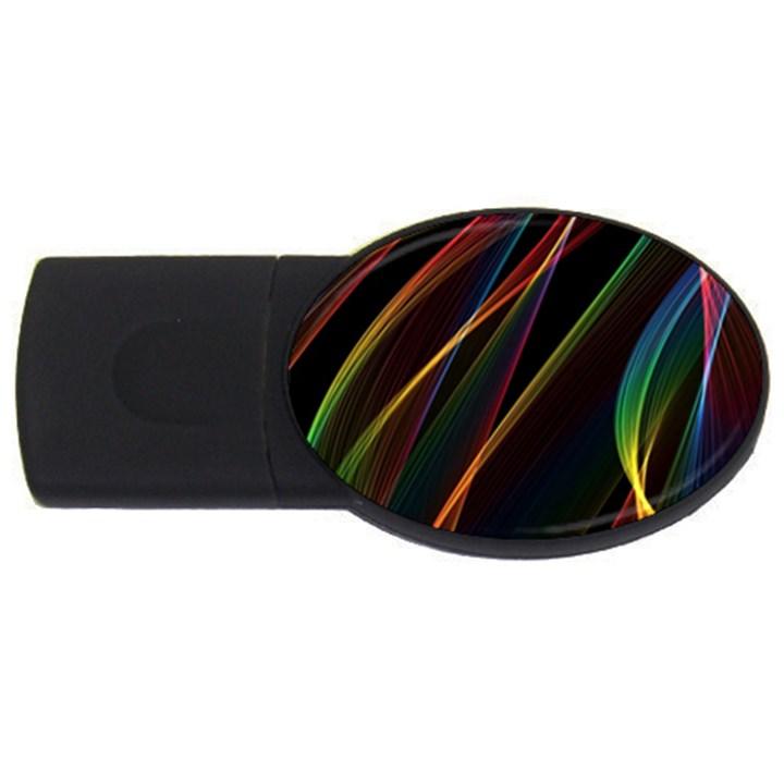 Rainbow Ribbons USB Flash Drive Oval (4 GB)