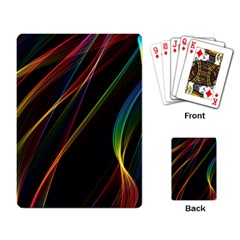 Rainbow Ribbons Playing Card