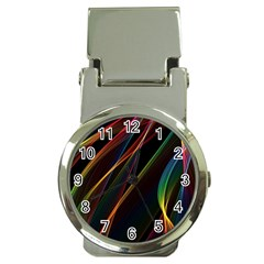 Rainbow Ribbons Money Clip Watches