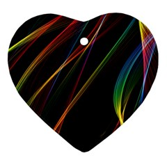Rainbow Ribbons Heart Ornament (two Sides)