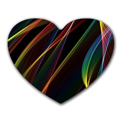 Rainbow Ribbons Heart Mousepads