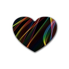 Rainbow Ribbons Heart Coaster (4 Pack)