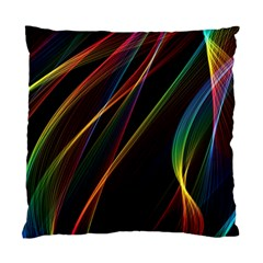 Rainbow Ribbons Standard Cushion Case (Two Sides)