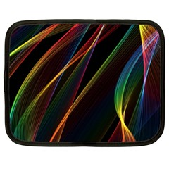 Rainbow Ribbons Netbook Case (XXL)