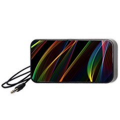 Rainbow Ribbons Portable Speaker (Black)