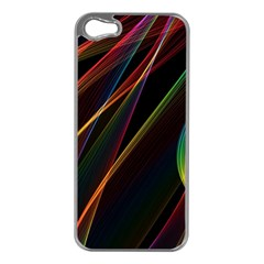 Rainbow Ribbons Apple Iphone 5 Case (silver)