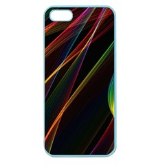 Rainbow Ribbons Apple Seamless Iphone 5 Case (color)