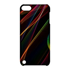 Rainbow Ribbons Apple iPod Touch 5 Hardshell Case with Stand