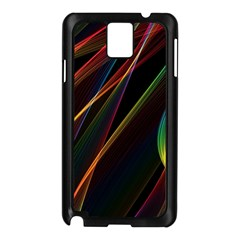 Rainbow Ribbons Samsung Galaxy Note 3 N9005 Case (Black)