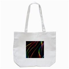 Rainbow Ribbons Tote Bag (white)