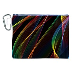 Rainbow Ribbons Canvas Cosmetic Bag (XXL)