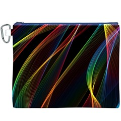 Rainbow Ribbons Canvas Cosmetic Bag (xxxl)