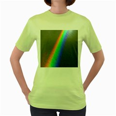 Rainbow Color Spectrum Solar Mirror Women s Green T-Shirt