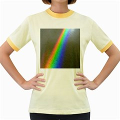 Rainbow Color Spectrum Solar Mirror Women s Fitted Ringer T-Shirts