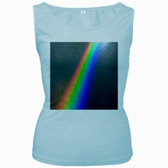 Rainbow Color Spectrum Solar Mirror Women s Baby Blue Tank Top