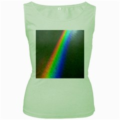 Rainbow Color Spectrum Solar Mirror Women s Green Tank Top