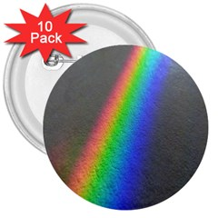 Rainbow Color Spectrum Solar Mirror 3  Buttons (10 Pack)