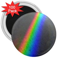 Rainbow Color Spectrum Solar Mirror 3  Magnets (100 pack)