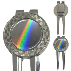 Rainbow Color Spectrum Solar Mirror 3-in-1 Golf Divots