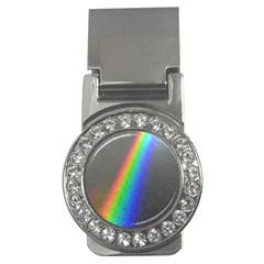 Rainbow Color Spectrum Solar Mirror Money Clips (CZ)
