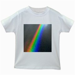 Rainbow Color Spectrum Solar Mirror Kids White T-Shirts
