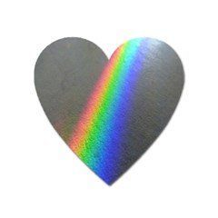 Rainbow Color Spectrum Solar Mirror Heart Magnet