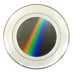 Rainbow Color Spectrum Solar Mirror Porcelain Plates
