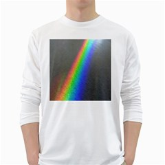 Rainbow Color Spectrum Solar Mirror White Long Sleeve T-Shirts